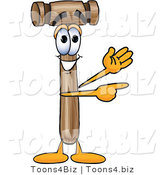 Vector Illustration of a Cartoon Mallet Mascot Waving and Pointing by Toons4Biz