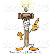 Vector Illustration of a Cartoon Mallet Mascot with a Bright Idea by Toons4Biz
