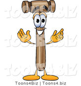 Vector Illustration of a Cartoon Mallet Mascot with Welcoming Open Arms by Toons4Biz