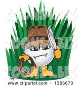 Vector Illustration of a Cartoon out of Bounds Golf Ball Sports Mascot Explorer by Toons4Biz