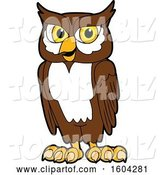 Vector Illustration of a Cartoon Owl School Mascot by Toons4Biz