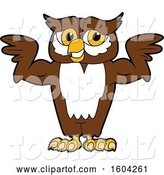 Vector Illustration of a Cartoon Owl School Mascot Flexing His Muscles by Toons4Biz
