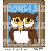 Vector Illustration of a Cartoon Owl School Mascot Portrait by Toons4Biz