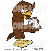 Vector Illustration of a Cartoon Owl School Mascot Reading a Book by Toons4Biz