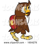 Vector Illustration of a Cartoon Owl School Mascot Wearing a Backpack by Toons4Biz