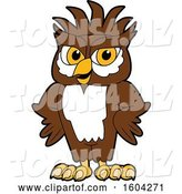 Vector Illustration of a Cartoon Owl School Mascot with a Mohawk and Hands on His Hips by Toons4Biz