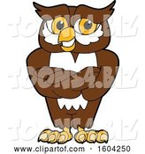 Vector Illustration of a Cartoon Owl School Mascot with Folded Arms by Toons4Biz