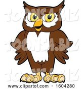 Vector Illustration of a Cartoon Owl School Mascot with Hands on His Hips by Toons4Biz