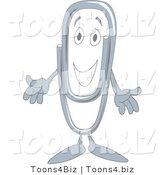 Vector Illustration of a Cartoon Paperclip Mascot by Toons4Biz
