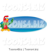 Vector Illustration of a Cartoon Parrot Mascot Blue Sea Logo by Toons4Biz
