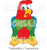 Vector Illustration of a Cartoon Parrot Mascot by Toons4Biz