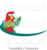 Vector Illustration of a Cartoon Parrot Mascot Dash Logo by Toons4Biz