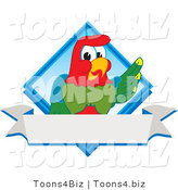 Vector Illustration of a Cartoon Parrot Mascot Diamond Logo by Toons4Biz
