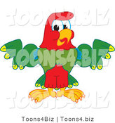 Vector Illustration of a Cartoon Parrot Mascot Flexing by Toons4Biz