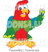 Vector Illustration of a Cartoon Parrot Mascot Holding a Missing Tooth by Toons4Biz