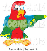 Vector Illustration of a Cartoon Parrot Mascot Pointing Right by Toons4Biz