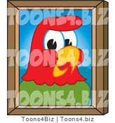 Vector Illustration of a Cartoon Parrot Mascot Portrait by Toons4Biz