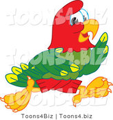 Vector Illustration of a Cartoon Parrot Mascot Running by Toons4Biz