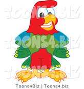 Vector Illustration of a Cartoon Parrot Mascot Smiling by Toons4Biz