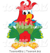 Vector Illustration of a Cartoon Parrot Mascot with Funky Hair by Toons4Biz