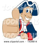 Vector Illustration of a Cartoon Patriot Mascot Giving a Thumb up by Toons4Biz