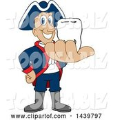 Vector Illustration of a Cartoon Patriot Mascot Holding a Tooth by Toons4Biz