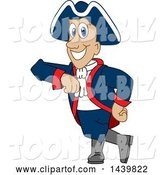 Vector Illustration of a Cartoon Patriot Mascot Leaning by Toons4Biz
