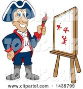 Vector Illustration of a Cartoon Patriot Mascot Painting by Toons4Biz