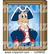 Vector Illustration of a Cartoon Patriot Mascot Portrait by Toons4Biz