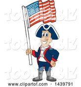 Vector Illustration of a Cartoon Patriot Mascot Waving an American Flag by Toons4Biz