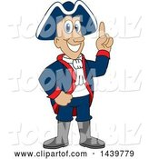 Vector Illustration of a Cartoon Patriot Mascot with an Idea by Toons4Biz