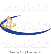 Vector Illustration of a Cartoon Peanut Mascot Logo with a Blue Dash by Toons4Biz