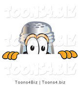Vector Illustration of a Cartoon Pepper Shaker Mascot Peeking over a Surface by Toons4Biz