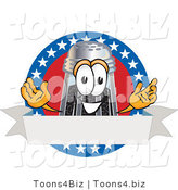 Vector Illustration of a Cartoon Pepper Shaker Mascot with Stars and Blank Label by Toons4Biz