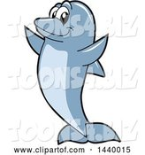 Vector Illustration of a Cartoon Porpoise Dolphin School Mascot by Toons4Biz