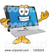 Vector Illustration of a Cartoon Proud PC Computer Mascot by Toons4Biz