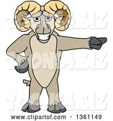 Vector Illustration of a Cartoon Ram Mascot Pointing by Toons4Biz