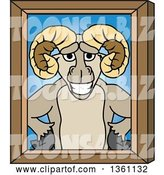 Vector Illustration of a Cartoon Ram Mascot Portrait by Toons4Biz