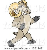 Vector Illustration of a Cartoon Ram Mascot Walking Upright by Toons4Biz