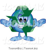 Vector Illustration of a Cartoon Recycle Mascot by Toons4Biz