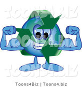 Vector Illustration of a Cartoon Recycle Mascot Flexing by Toons4Biz