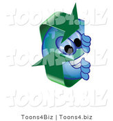 Vector Illustration of a Cartoon Recycle Mascot Peeking by Toons4Biz