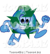 Vector Illustration of a Cartoon Recycle Mascot Running by Toons4Biz
