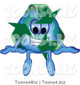 Vector Illustration of a Cartoon Recycle Mascot Sitting by Toons4Biz