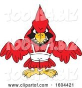 Vector Illustration of a Cartoon Red Cardinal Bird Mascot Wrestling by Toons4Biz