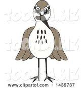 Vector Illustration of a Cartoon Sandpiper Bird School Mascot by Toons4Biz