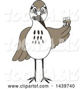 Vector Illustration of a Cartoon Sandpiper Bird School Mascot Holding a Tooth by Toons4Biz