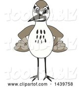 Vector Illustration of a Cartoon Sandpiper Bird School Mascot with Hands on His Hips by Toons4Biz