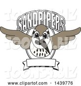 Vector Illustration of a Cartoon Sandpiper Bird School Mascot with Text and a Banner by Toons4Biz