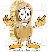 Vector Illustration of a Cartoon Scrub Brush Mascot with Welcoming Open Arms by Toons4Biz